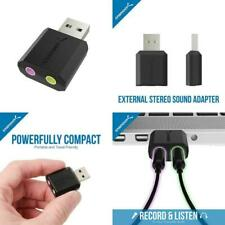 Sabrent USB External Stereo Sound Adapter For Windows And Mac. Plug And Play No