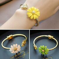 Fashion Daisy Cute Bee Gold Bracelet Bangle Cuff Open Women Adjustable Jewelry