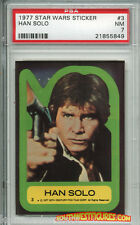 STAR WARS 1st Series Trading Card STICKER #3 Han Solo - PSA (Topps 1977)