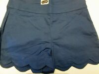 Navy Blue Scallop Shorts by Mud Pie, Size Large (12-14), NWT