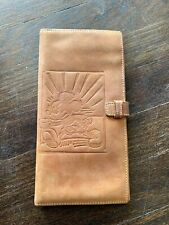 .Disney Mickey Mouse Leather Vintage Brown Wallet.