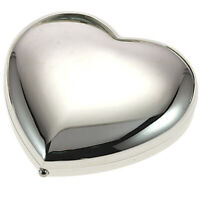 Silver Plated Heart Double Mirror Suitable For Engraving – MC219S Gift Boxed