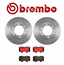 Set of 2 Disc Brake Rotors & Ceramic Pads Brembo 25534 For Toyota Tundra Sequoia