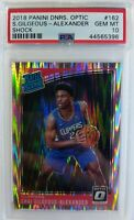 2018 Optic Rated Rookie Shock Prizm Shai Gilgeous-Alexander #162, Low Pop PSA 10