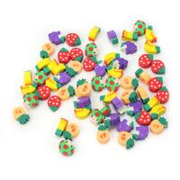 50 x Mini Cute Novelty Fruit Pencil Eraser Stationery For Kids Children Gi PYR