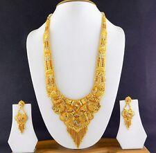 UK Indian Bollywood Bridal Rani-Haar Fashion Jewelry Necklace Earrings New Set