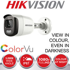 HIKVISION BULLET CAMERA COLOUR AT NIGHT 2MP FULL HD 1080P CCTV 4IN1 TVI AHD CVI