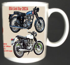 BSA GOLD STAR DBD34 CLASSIC MOTOR BIKE MUG.LIMITED EDITION 1956/63 *