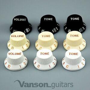 New VANSON Volume x Tone knob set for Strat®* type electric guitars, 6mm