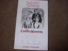 The CABINET MINISTER  Lipman & Derek Nimmo  Original  ALBERY Theatre Poster