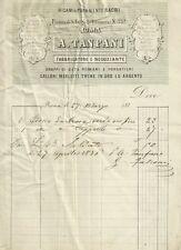 Roma - Ricami e Paramenti Sacri Tanfani Drappi di Seta Romani e Forastieri 1870