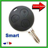 Coque Télécommande Plip 3 Bouton Clé Smart Fortwo 450 Forfour + Lame vierge