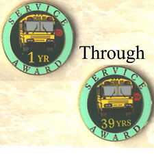 Exclusive, Lot of fifty (50) School Bus Staff Years of Service Award Pins