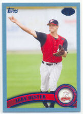 JAKE OESTER 2011 TOPPS PRO DEBUT BLUE CARD 202/309 REDS