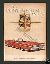 LINCOLN CONTINENTAL MARK IV - Vintage Ad Flexible Fridge Magnet
