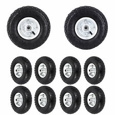 4x 8x 10 INCH PNEUMATIC SACK TRUCK TROLLEY WHEEL BARROW TYRE TYRES REPLACEMENT