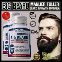 DHT Blocker Facial Chest Hair Fuller Growth Beard Mustache Supplement 120 Pills