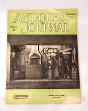The Antiques Journal September 1960 Chinese Snuff Bottles French Dolls Clocks