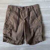 Eddie Bauer cargo brown Shorts Womens Size 6 Tall