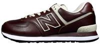New Balance 574 Classics Dark Brown Leather Medium Width ML574LPB Men's Shoes
