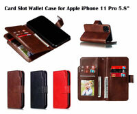 For Apple iPhone 11 Screen Protector/Luxury Flip Card Slot Wallet Case