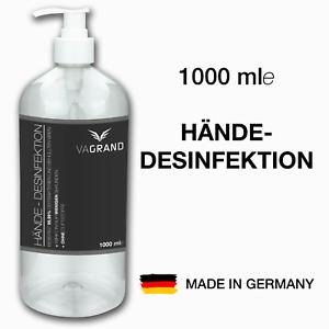 1 Liter Händedesinfektion ● WHO-Formel ● hautpflegend ● MADE IN GERMANY