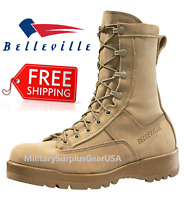 BRAND NEW - Belleville 790G Men's Waterproof Military Combat Boots TAN - Sz 13-R