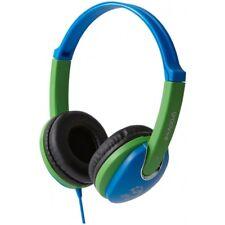 Groov-e Kidz DJ Style Headphone with 85dB Volume Limiter - Blue/Green