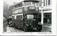 Pamlin repro photo postcard M40 London Transport ST Type Bus London Bridge 1949