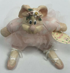 Vintage Russ Tippy Toes Ballerina Bunny Easter by Kathleen Kelly Ceramic Fabric
