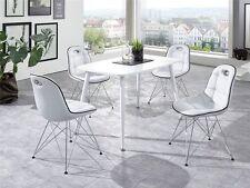 Tischgruppe 5tlg Anja Pep 2 Essecke Schalenstuhl Tisch und Stuhl Set weiss