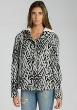 2015 NWT WOMENS BILLABONG IN THE DISTANCE HOODIE JACKET $80 M black white sherpa