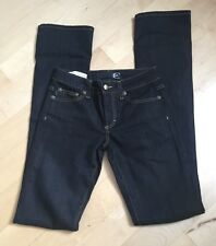 Just Cavalli womens jeans black pants sz 24 regular waist slim leg skinny Italy