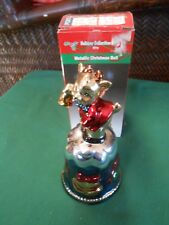 Collectible Bell Holiday Collection Metallic Christmas Bell.Free Postage Usa