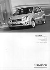 Subaru G3X Justy Preisliste 1 04 price list 2004 Auto PKWs Autoprospekt Japan