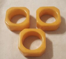 Lot of 3 Vintage butterscotch bakelite Napkin Rings