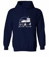 Japan Honda Jazz Fit JDM Racing Sweater Jacket Pullover Hoodie Sweatshirt Unisex