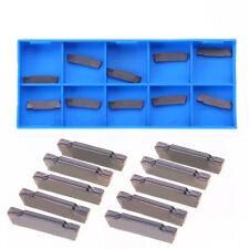 10Pcs MGMN200-G LDA 2mm Steel Grooving Parting Carbide Insert Cutting Tool Kit