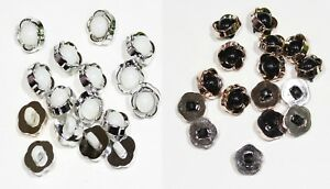 10 x  Pearl Shank  Dome Button  Size 14mm 3 Colour : Black White Ivory
