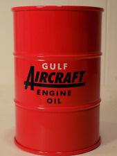 FIRST GEAR GULF Aircraft OIL 55 Gal Oil Drum Coin Bank MIB NOS # 99-0419