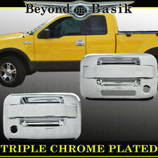 2004-2014 F150 2Dr Regular Cab Chrome Door Handle Covers Trims w/PSK w/Keypad