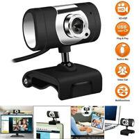 HD Webcam with Microphone Web Cam USB 2.0 Camera for Computer PC Laptop Desktop