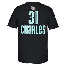 Tina Charles Adidas New York Liberty Player N&N Jersey Black T-Shirt Men's