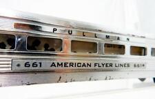 1952 American Flyer CHROME 661 Pullman Streamlined Passenger Car Coach Link coup