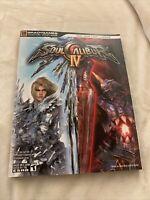 Soul Calibur IV Strategy Guide BradyGames Signature Series Book W/Foldout! PS4