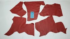 Leather scraps Red Italian lot Remnants pieces hide sheep goat lampskin earrings