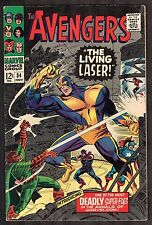 "Avengers #34 ~ ""The Living Laser!"" / Last Stan Lee ~ 1966 (6.5) WH"