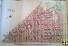 1907 Fort Greene Brooklyn Heights Original Atlas Map New York Nyc G.W. Bromley