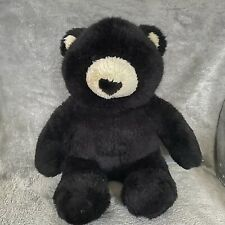 "Build a Bear 16"" Teddy Black Cream Plush Stuffed Animal"