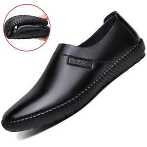 Fashion Men's Pointed Toe Flat Shoes Loafers Casual Artificial Leather Shoes New